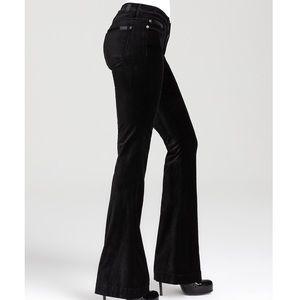 7FAM Jiselle Flared Velvet Pants Size 26